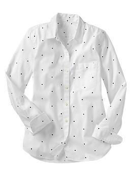 Polka dot oxford shirt | Gap