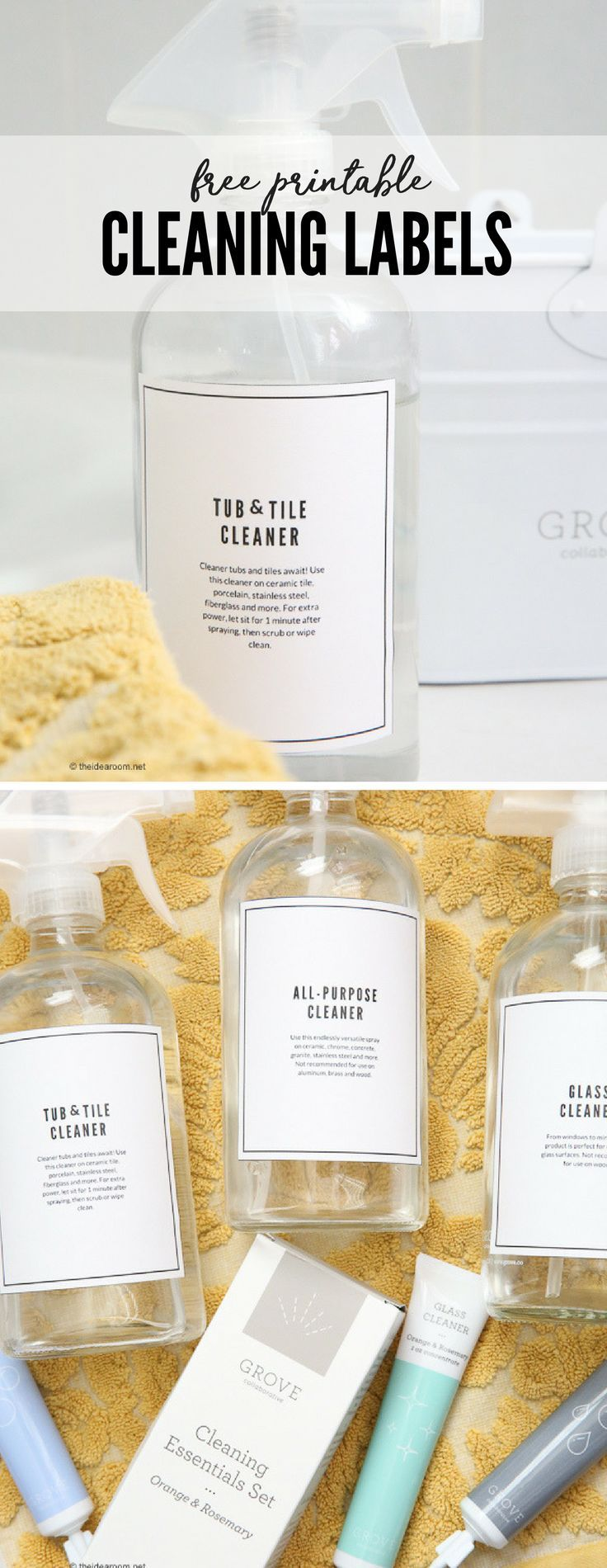 Printables | Free Printables | Cleaning Ideas | Download and Print these Free Printable Cleaning Solutions Labels to help get you more organized and maybe excited to get cleaning.