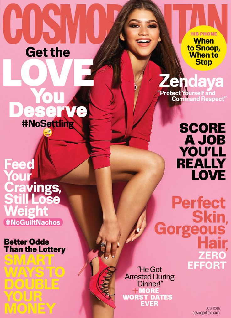 Zendaya on the July 2016 Cover of Cosmopolitan Magazine