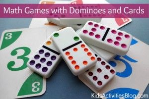 {Cool Math Games} Dominoes and a Deck of Cards - Kids Activities Blog