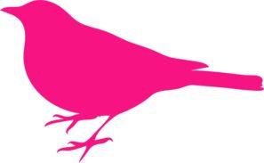 Little Fuschia Bird Clip Art