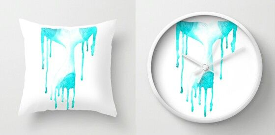 """Whale tail"" Throw pillow and Clock by Amee Cherie Piek  Shop here: www.society6.com/ameecheriepiek"