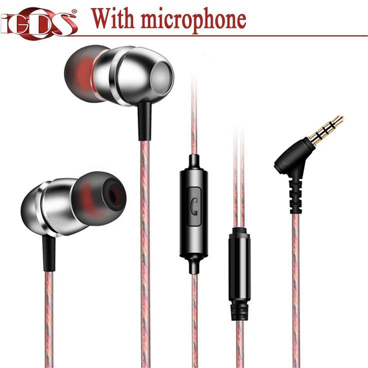Asli iGDS G10 In-Ear earphone logam khusus bass suara Dengan mikrofon untuk semua telepon