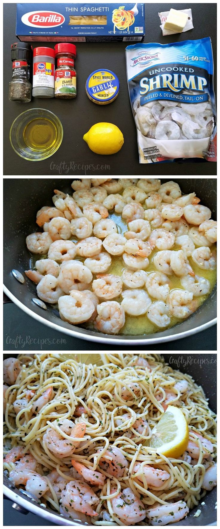 This garlic lemon shrimp pasta recipe was so yummy! My husband had seconds and took leftovers to work. Win.