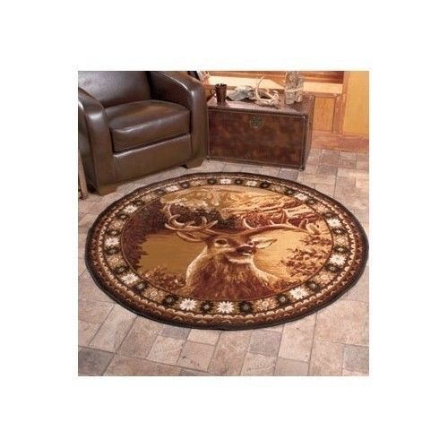 Wildlife Deer Rug Carpet Lodge Area Door Buck Hunting Mat