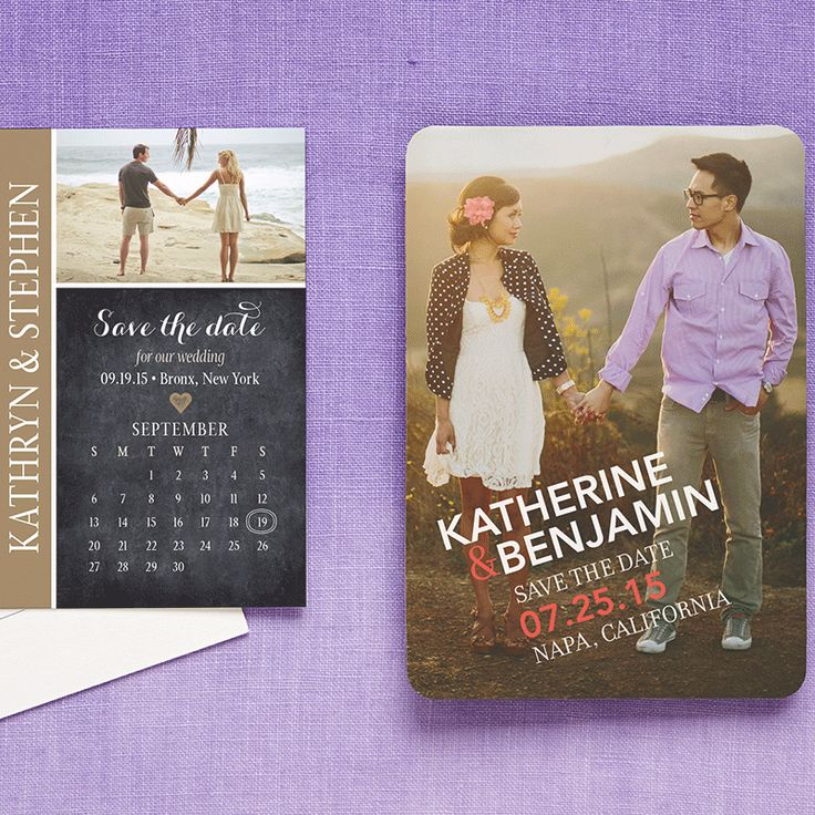 Wedding Tip: Start checking tasks off your wedding to-do list. Order your save the dates eight months before the big day to give guests time to book travel and accommodations.