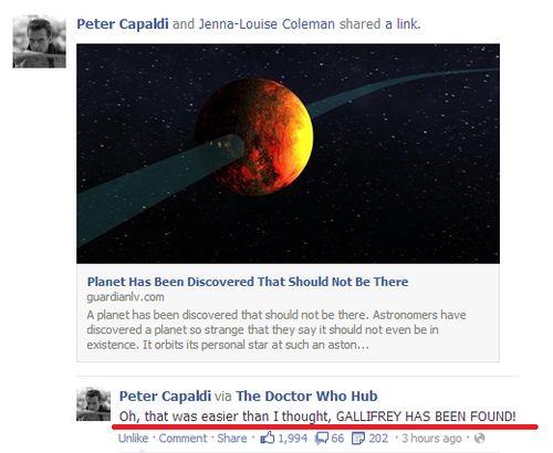 Peter Capaldi ladies and gentlemen.