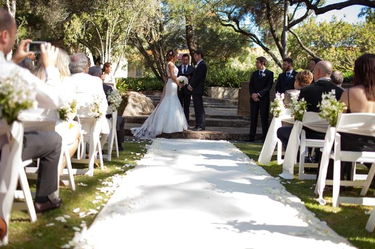 UWA Sunken Gardens ceremony www.touchedbyangels.com.au
