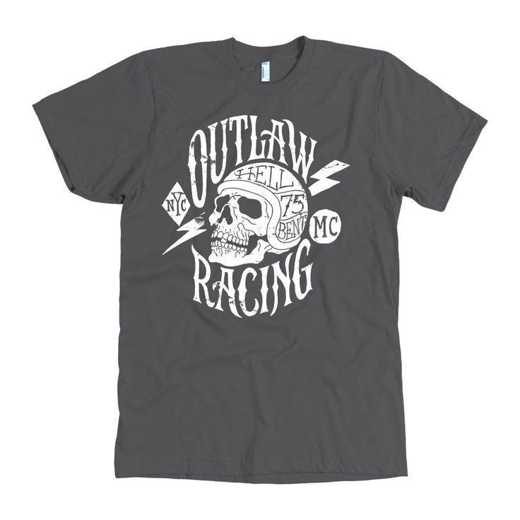 Hell Bent Outlaw Racing Men's American Apparel T-Shirt (White)