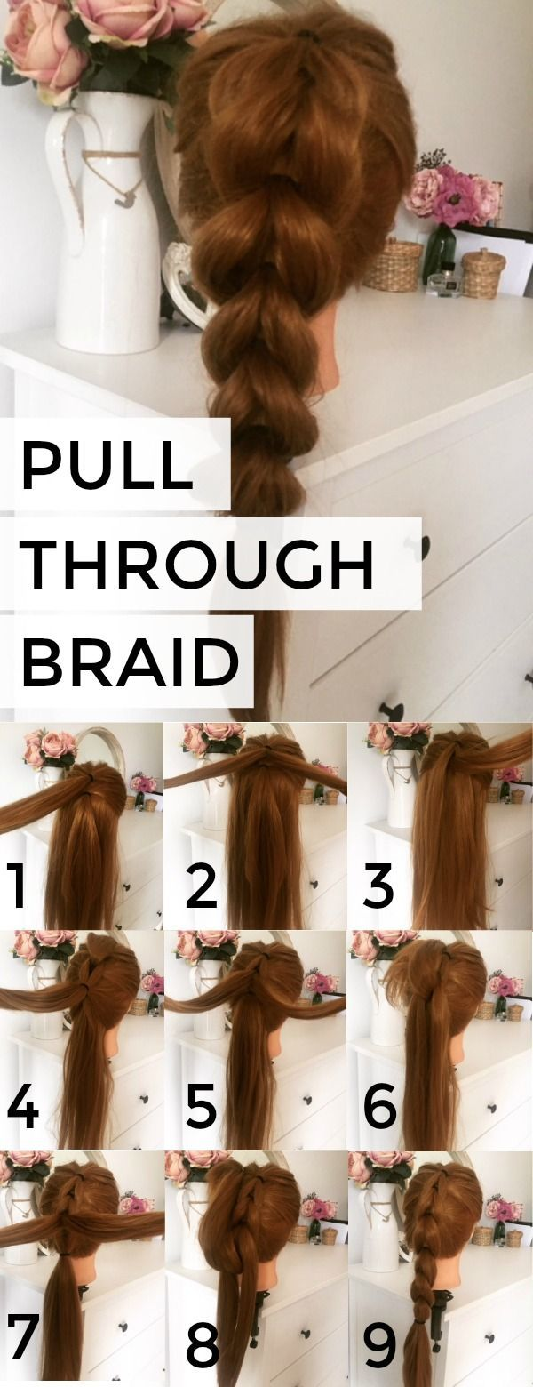 how to: pull through braid / Full Step by Step instructions available on Cordina.co.uk - click to view larger pictures on how to create this easy hair...