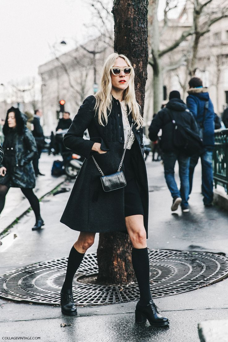 PFW-Paris_Fashion_Week_Fall_2016-Street_Style-Collage_Vintage-Miu_Miu-Chloe_Sevigny-Socks-3