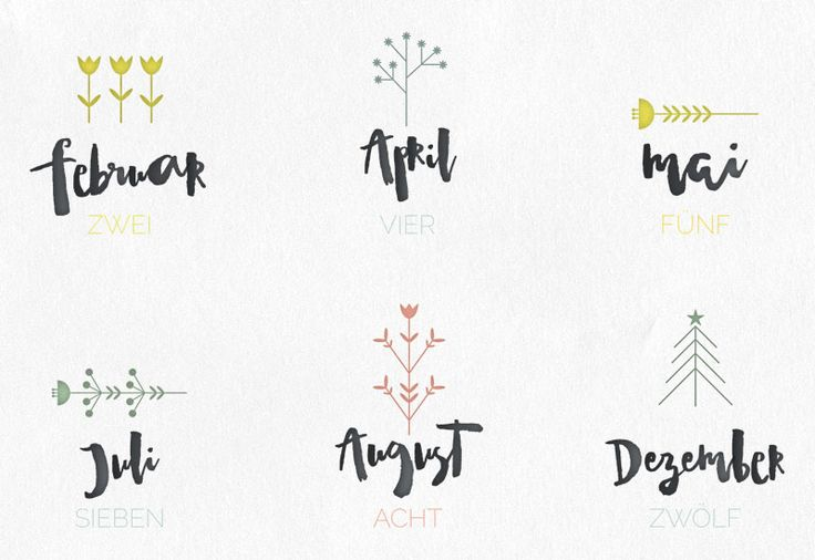 Kalender 2016 – Free Printable via sodapop-design.de