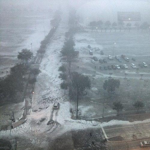 Flash flooding in Houston Texas 2013