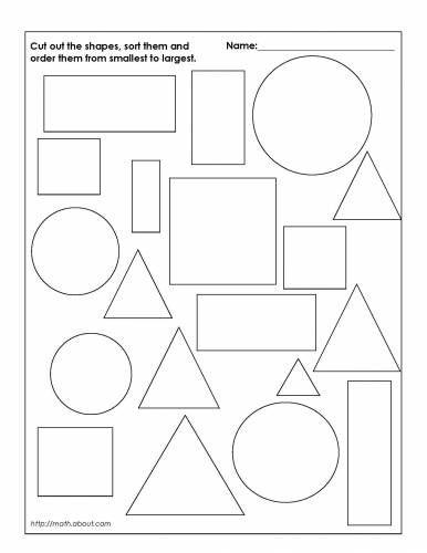 Sorting Shapes Worksheets #3