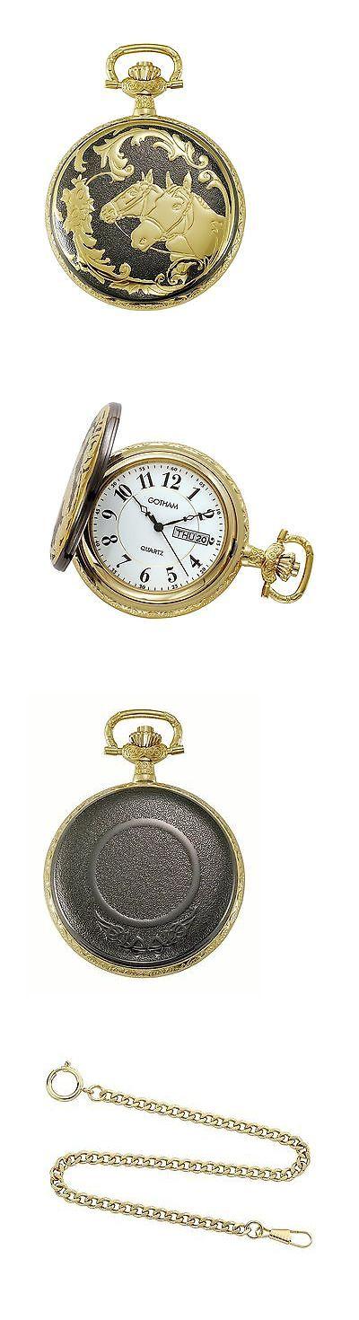 25 best ideas about modern pocket watch watches modern 3938 gotham men s two tone horse design day date quartz covered pocket watchesgothamquartztonepocketshorses