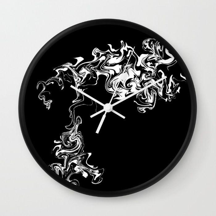 Smoke Wall Clock by Wall Threads