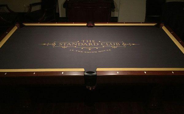 The Standard Club Custom ArtScape Pool Table Felt