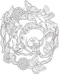 Mandala Motifs Coloring Page - Coloring for Adults #adultcoloring