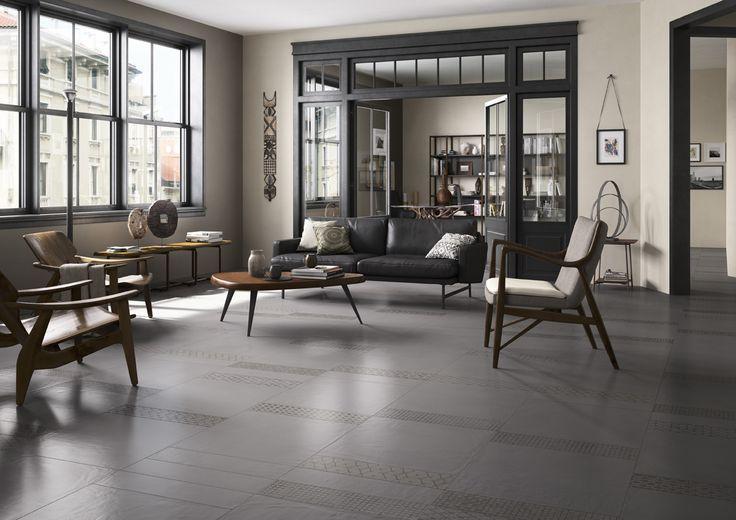 LeTerre Imola vloertegels onderbroken door mooie decortegels