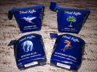 Täschchen aus Kaffeeverpackung
