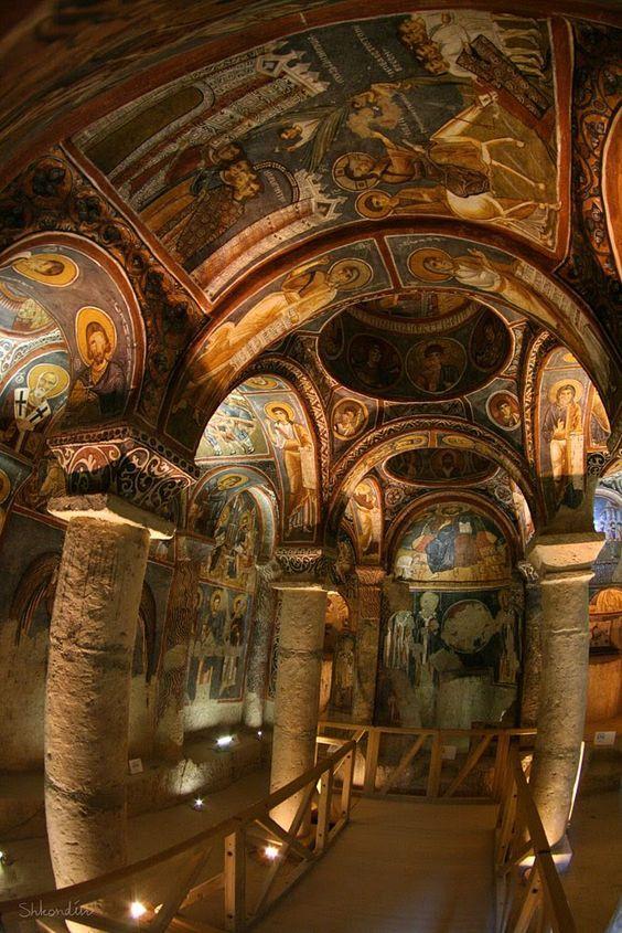 Cappadocia: Karanlık Kilise (the dark church) • Göreme National Park, Turkey