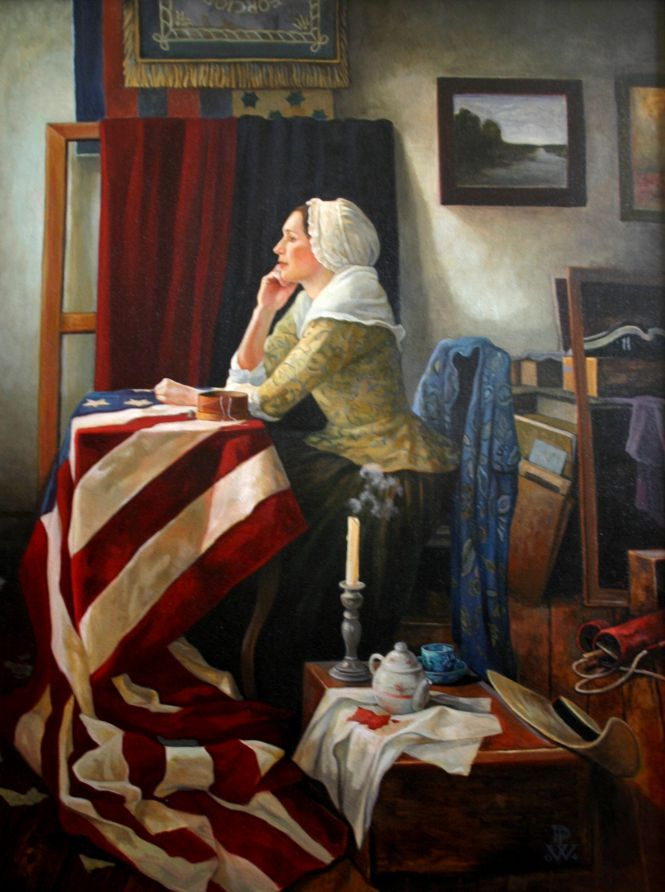The Flag Maker, by Pamela Patrick White.  During the American Revolution many women answered the call to sew uniforms & clothing for the new Continental Army.  Some were chosen to create flags for a new country.