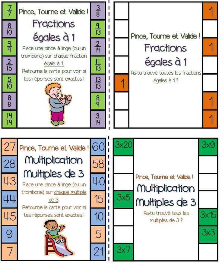 Un nouveau jeu en autonomie avec des pinces linge - Tables de multiplication cm2 ...