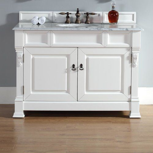 Web Photo Gallery Cool Corner Bathroom Vanity with Wooden Cabinets and Hidden Light
