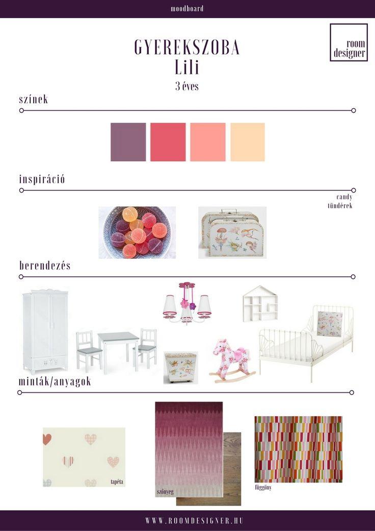 Moodboard/ kislányszoba  Room Designer - Lakberendezés.Online.Fix áron.