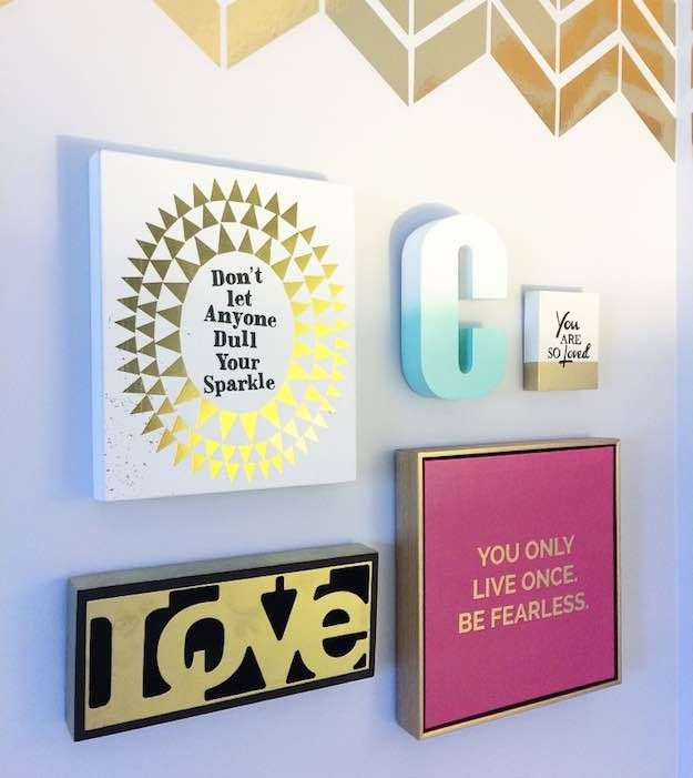 A Frame Wall | Teen Room Decor: Everything You Need For The Coolest Room Ever