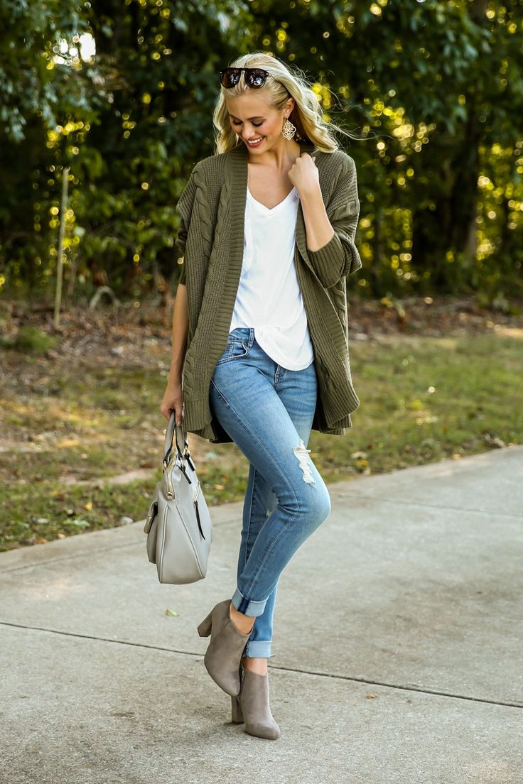 Be My Neighbor Olive Green Cardigan at reddressboutique.com