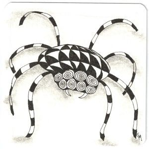 Zentangle Inspired Art of a spider
