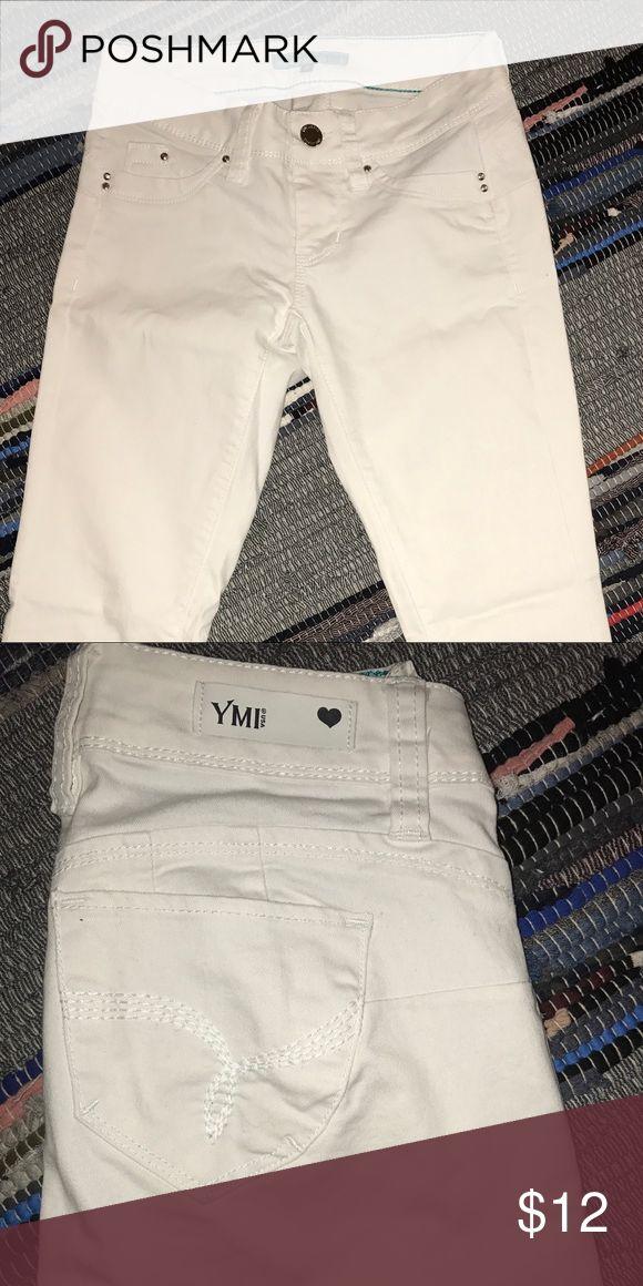 YMI jeggings: wanna betta butt? white jeggings YMI Jeans Skinny