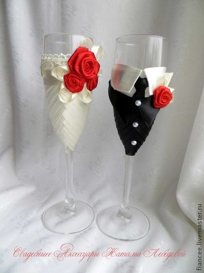 17 Best Images About Hand Painted Champagne Glasses On