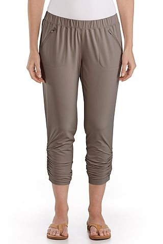 This is a new Coolibar favorite! These pants have the sun protection built right in and you'll love the easy style.