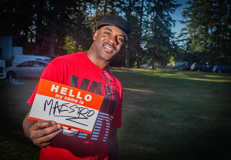 MAESTRO FRESH WES says Hello after thrilling the crowd with a little, Backbone Slip! #Hello #Art #PhotoProject #Unite #MaestroFreshWes #HipHop #Music #Muskoka #Portrait