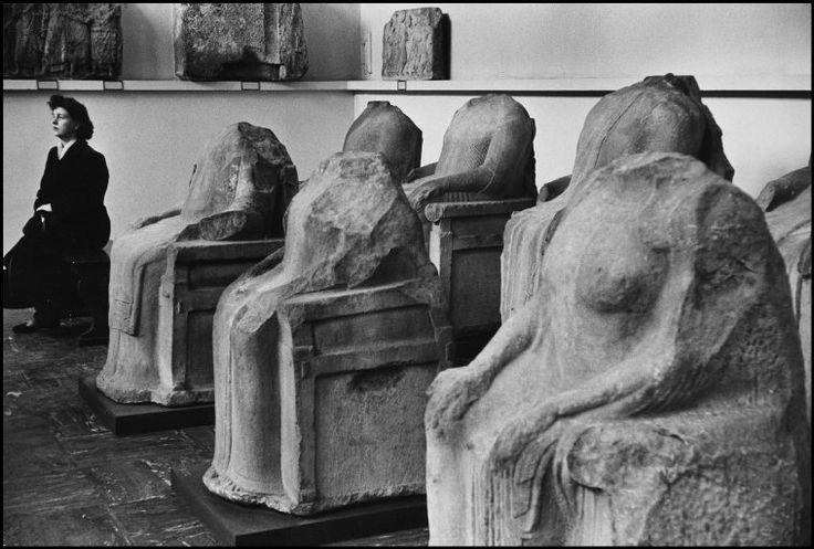 British Museum, London 1954 by Marc Riboud