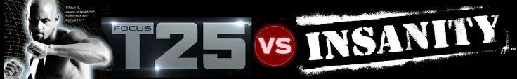 Focus T25 vs Insanity  : différence entre les 2 programmes.