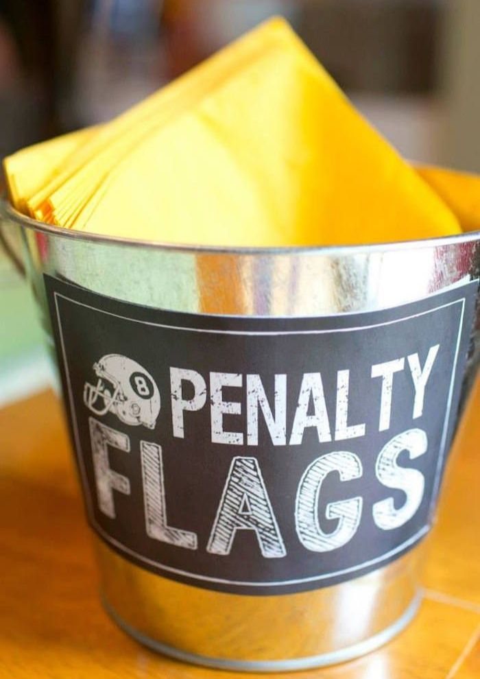 How fun is this idea? What a great way to store napkins for your next football gathering.