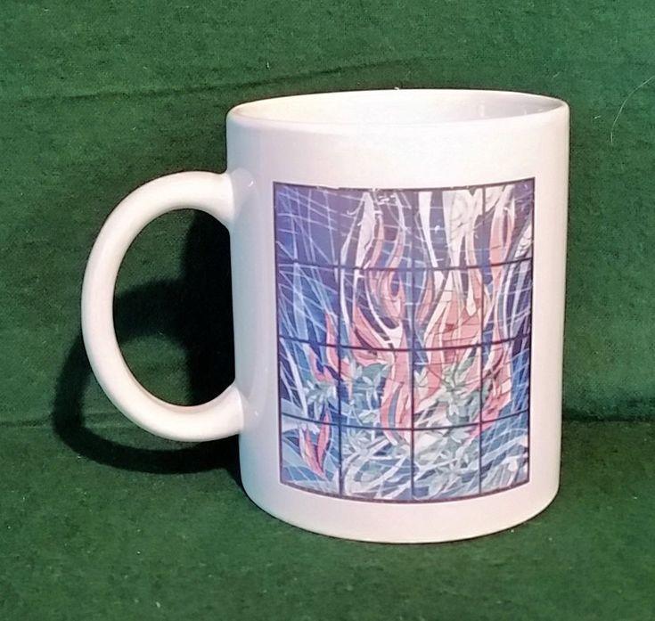 Cup Mug 100 Years Religious Studies Univ Of Kansas Stained Glass 1901 2001 KU