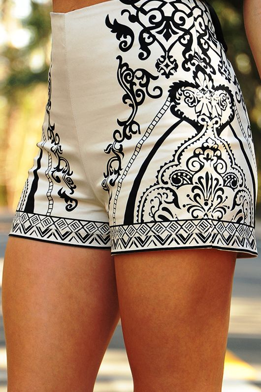 Black  + Cream. Take Me Back Shorts. #cream #black