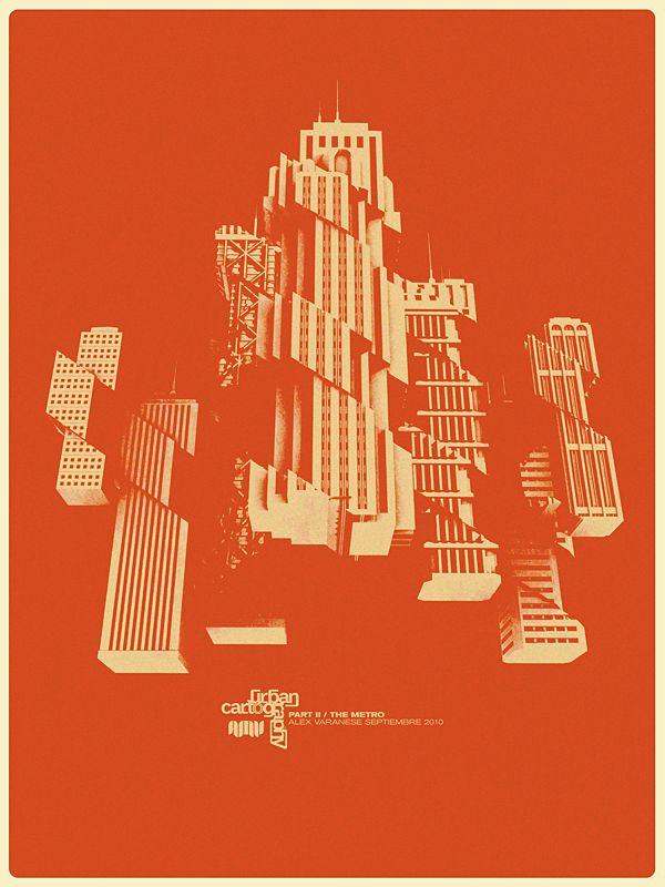 Urban Cartography II: The Metro on Behance Graphic Art