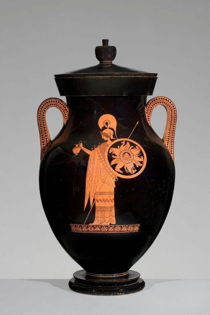 Greek, Attic, attributed to the Berlin Painter, Red-figure amphora of Type A: A, Athena; B, Herakles, ca 500–490 BCE, ceramic, Antikenmuseum Basel und Sammlung Ludwig