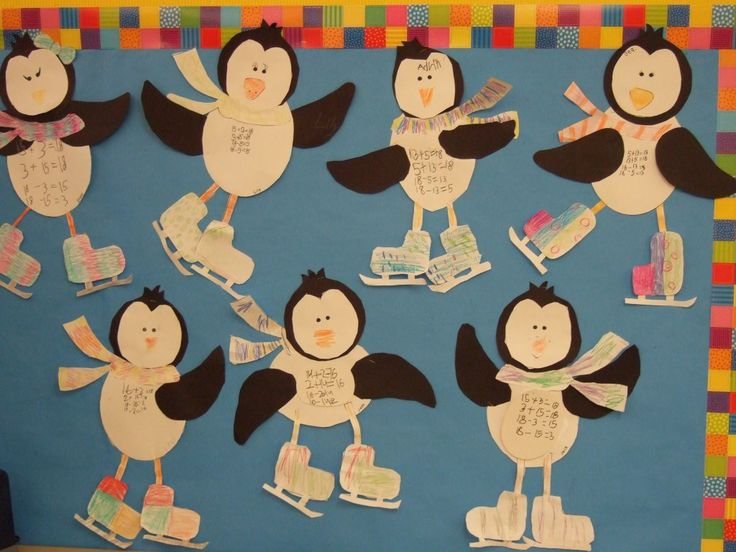 Penguin Math Craft Practicing Fact Families in First Grade
