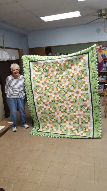 Golf quilt for Nick, pieced by his grandmother, Rose Wojciechowski and hand quilted.
