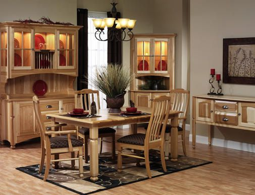 Estate Tranditional Hickory Dining Collection | Amish Furniture | Solid  Wood Mission Shaker Furniture | Chicago