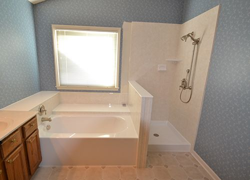 Walk in shower side by side tub remodel your old 70 39 s for Show me pictures of remodeled bathrooms
