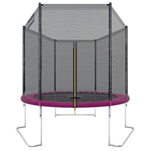 Ultrasport Trampoline de jardin Jumper, set complet pour trampoline avec tapis de saut, filet de sécurité, barres du filet rembourrées et…