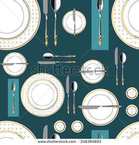 Seamless pattern with served table 1 #vectorpattern #patterndesign #seamlesspattern #kitchen
