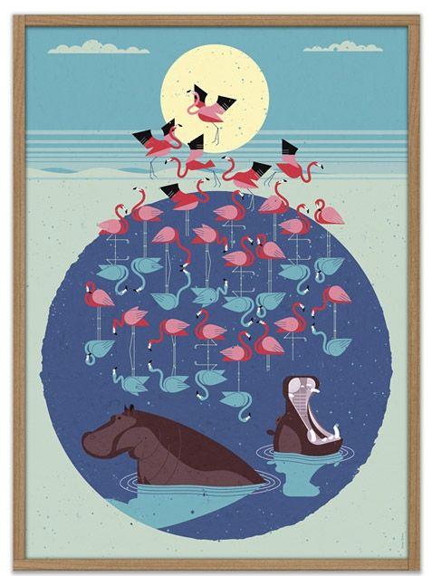 Schenkidee für mich selbst - Dieter Braun Flamingo Poster (50x70cm)